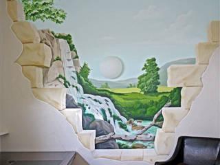Wasserfall:   von Studio Witti - Wandmalerei