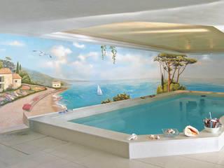 Wandmalerei Schwimmbad:  Pool von Studio Witti - Wandmalerei