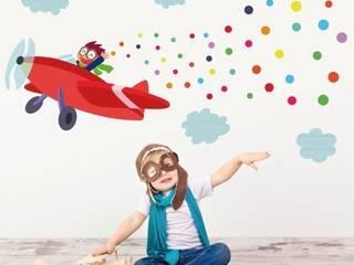 Vinilo infantil Avión con confeti de StarStick Moderno