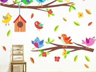 Vinilo infantil decorativo Pajaritos con casita de StarStick Moderno