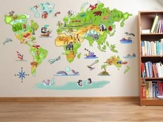 Vinilo decorativo de pared Mapa Mundi de StarStick Moderno