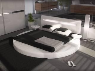 Lit rond blanc Arezzo:  de style  par Mobilier Nitro