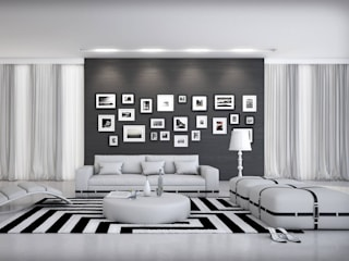 Canapé design Alvisi blanc:  de style  par Mobilier Nitro