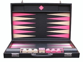 Bespoke Contemporary class Backgammon:   by Geoffrey Parker Games Ltd