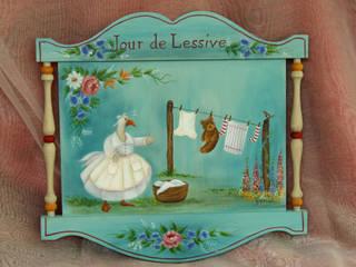 Peinture décorative: Peinture & Papillon - Danielle Polverini, Artisan créateur - :  de style  par PEINTURE ET PAPILLON