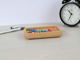 Oak Paperclip and Pin Container:   by Utology