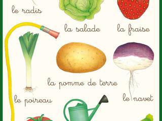 Affiche au jardin potager par Claire et Pierre éditions Classique