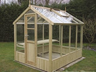 Swallow Kingfisher 6x6 Wooden Greenhouse:  Garden  by Greenhouse Stores