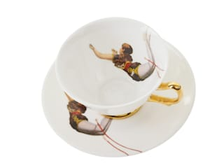 Trapeze Girl Teacup and Saucer:   by Melody Rose