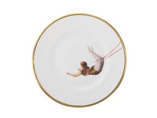 Trapeze Girl Bone China Plates by Melody Rose