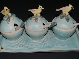 Ceramic Condiment Set:   by Boyne-Whitelegg Pottery