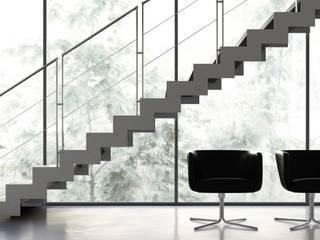 Escaliers 60637 par CNBF Sarl Moderne