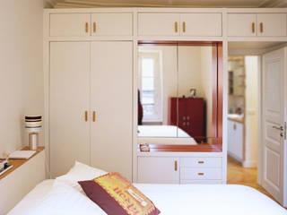 Appartement famillial, Paris, 2013, avec Jean-Philippe Doré Architecte. Chambre par Aurélie ECKENSCHWILLER