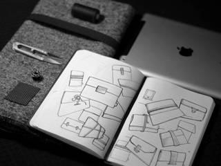 Ipad cover: Bureau de style de style Minimaliste par Axelle Gallet