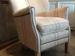 Sillón tapizado con tela de saco de Vilmupa Rústico