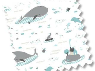 Save the whales:  de style  par Véronique Petit Designer Textile