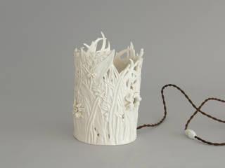 Lampe porcelaine par Pauline Georgeault Éclectique