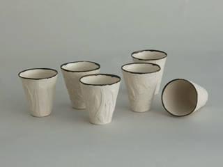 Gobelets porcelaines:  de style  par Pauline Georgeault