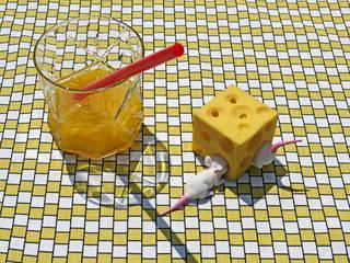 TORCHON / DISH TOWEL damier yellow par décoratoire Classique