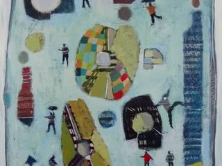 """tableau """"au milieu des formes"""":  de style  par SIMON BELLEGO"""