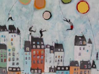 """tableau """"sur le toit"""" par SIMON BELLEGO Moderne"""