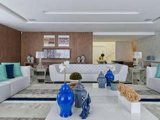 Salas / recibidores de estilo  por Samara Barbosa Arquitetura