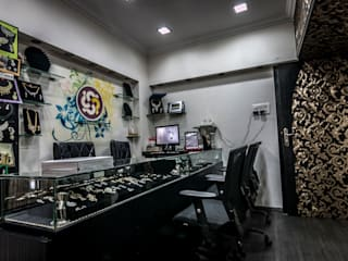Jewellery Showroom Asian style offices & stores by Instinct Designs Asian