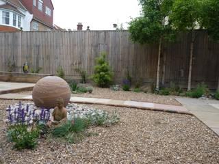 Serene Gravel Garden Cornus Garden Design Jardines de estilo moderno