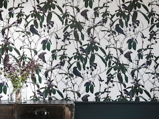 Folia Birds Wallpaper: eclectic  by Witch and Watchman, Eclectic