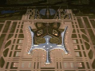 Qingdao New Airport:  de estilo  de Ricardo Bofill Taller de Arquitectura