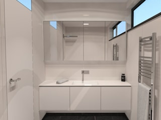Badkamer Minimalistische badkamers van AD MORE design Minimalistisch