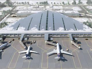 Perm Bolshoye Savino Airport New Terminal:  de estilo  de Ricardo Bofill Taller de Arquitectura