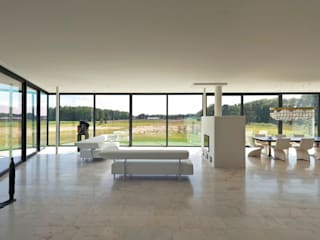 Bridge House: moderne Woonkamer door 123DV Moderne Villa's