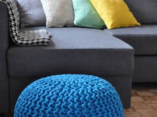 Dziergane pufy ze sznurka: styl , w kategorii  zaprojektowany przez DECOVENA