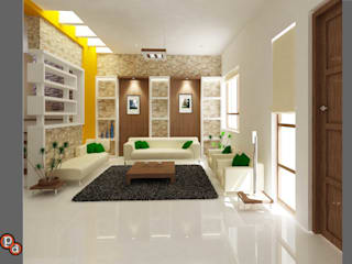 Minimalistic Interior spaces ---Living room interiors Minimalist living room by Preetham Interior Designer Minimalist
