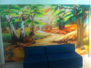 DRAWING ROOM WALL PAINTING: modern  by WALL PAINTING MUMBAI,Modern