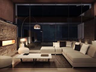 Living Room: Case in stile in stile Moderno di Storm Studio Architecture