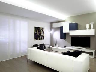 Casa BT: Soggiorno in stile  di Laboratorio di Progettazione Claudio Criscione Design