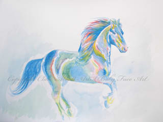 Galloping Rainbows:   by Baby Face Art