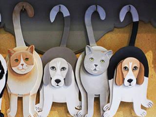 Chats et chiens à suspendre:  de style  par Rondeur des Jours