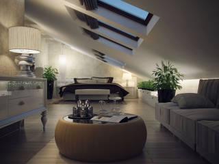 Projekty,  Sypialnia zaprojektowane przez Дарья Баранович Дизайн Интерьера