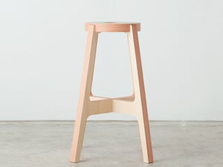 Paper-Wood STOOL de DRILL DESIGN Co., Ltd. Minimalista