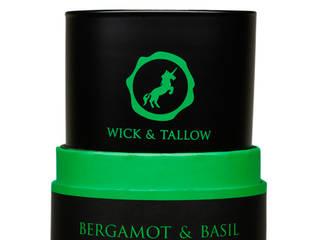 Wick & Tallow Bergamot & Basil Candle:   by Wick & Tallow