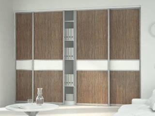 Schiebetür für Schranksystem nach Maß: rustikale Wohnzimmer von Möbelmanufaktur Grube Carl GmbH