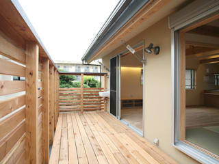 さいたまの家 ⅩⅡ オリジナルデザインの テラス の 八島建築設計室 オリジナル