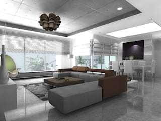 Apartment Interiors , Hiranandani Towers Modern houses by Play Design Studio Modern