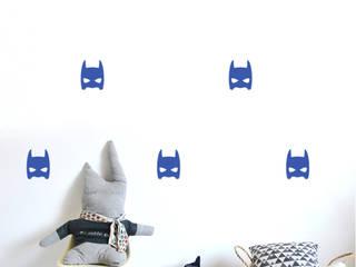 Stickers muraux masques héros bleu électrique:  de style  par pöm