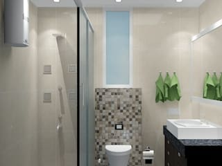 Toilet 1:   by Universal Pride Interiors Pvt. Ltd.