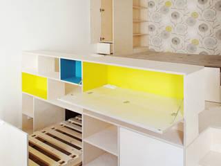 Studio Astucieux Chambre moderne par Atelier UOA Moderne