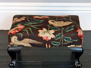 Antique footstool:   by Linney Hughes